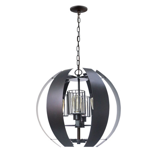 Worx 4-Light Oil Rubbed Bronze Chandelier with Cage Shades