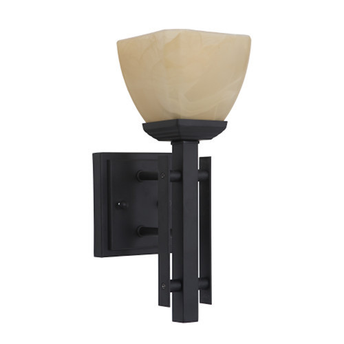 Half Dome 1-Light Venetian Bronze Incandescent Sconce