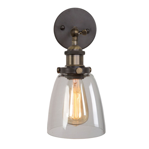 Aharon Collection Industrial Style 1-Light Sconce in Dark Gray Finish
