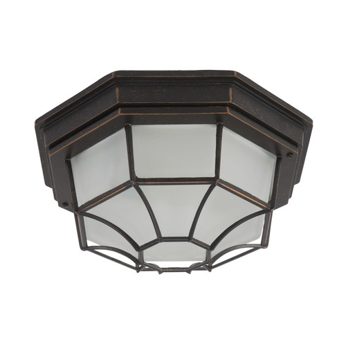 Serge Collection Oil Rubbed Bronze Outdoor Flush Mount Light