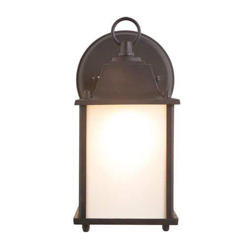 Tara Collection 1-Light Black Outdoor Wall Lantern Sconce