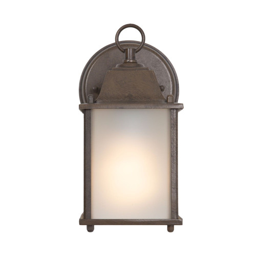 Tara Collection 1-Light Brown Outdoor Wall Lantern Sconce