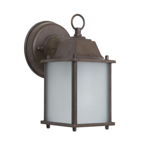Tara Collection 1-Light Black Exterior Wall Lantern Sconce