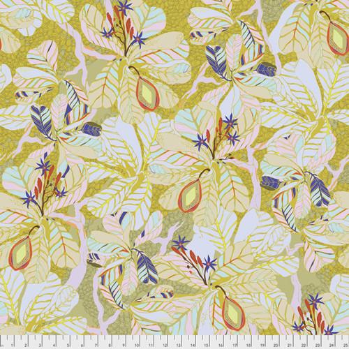 Kathy Doughty PWMO032 Seeds & Stems Fig Leaf Dawn Cotton Fabric By Yard
