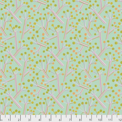 Kathy Doughty PWMO034 Seeds & Stems Bush Lily Mint Cotton Fabric By Yard