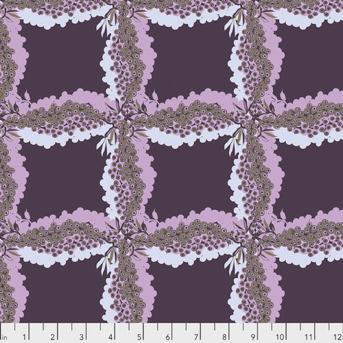 Kathy Doughty PWMO035 Seeds & Stems Woven Ink Cotton Fabric By Yard