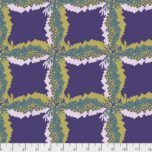 Kathy Doughty PWMO035 Seeds & Stems Woven Royal Cotton Fabric By Yard