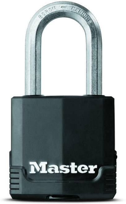 "Master Lock Magnum Padlock M115XKADLF Covered Laminated Steel 1-7/8"" Wide"