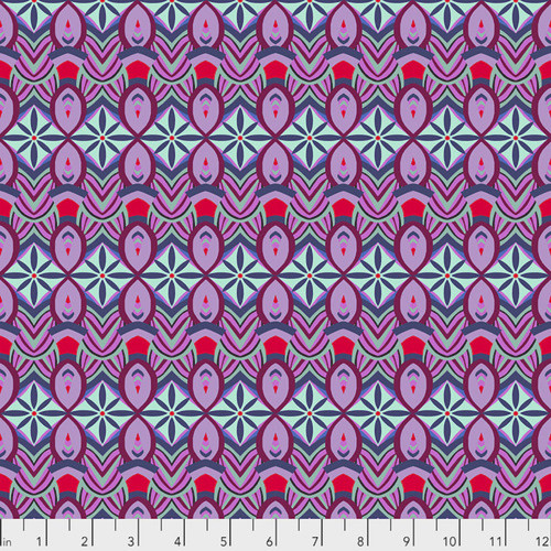 Shannon Newlin Vibrant Blooms Flower Burst Blue Cotton Fabric By The Yard