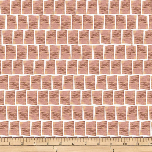 Stof Fabrics Murano Collection Tile Terra Cotta Cotton Fabric By The Yard