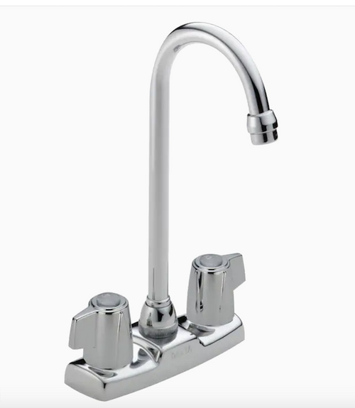 Delta 2171LF Two Handle Blade Bar Prep Sink Faucet Chrome Finish