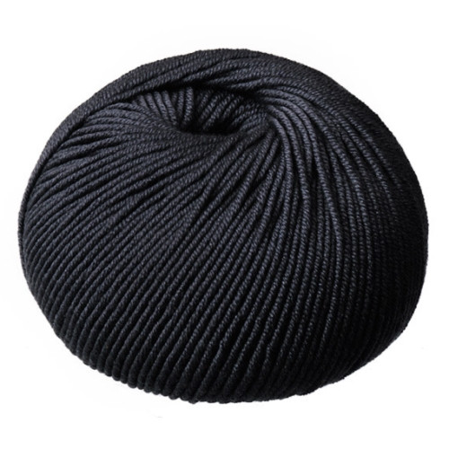 CleckHeaton Merino Super Fine 8 Ply Knitting & Crochet Yarn, Black