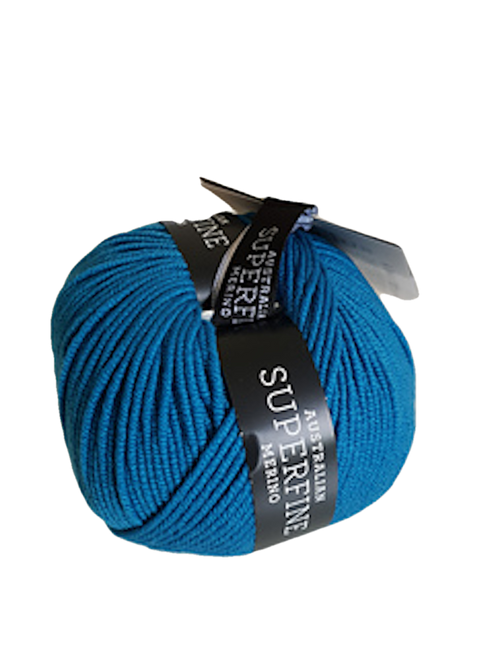 CleckHeaton Merino Super Fine 8 Ply Knitting & Crochet Yarn, Peacock