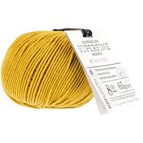 CleckHeaton Merino Super Fine 8 Ply Knitting & Crochet Yarn, Mustard