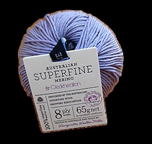 CleckHeaton Merino Super Fine 8 Ply Knitting & Crochet Yarn, Lavender