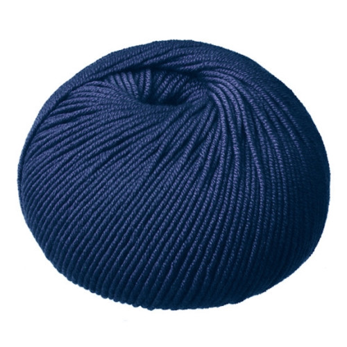 CleckHeaton Merino Super Fine 8 Ply Knitting & Crochet Yarn, Mid-Navy