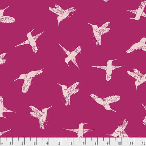 Valori Wells PWVW003 Murmur Hummingbirds Hot Pink Cotton Fabric By Yard