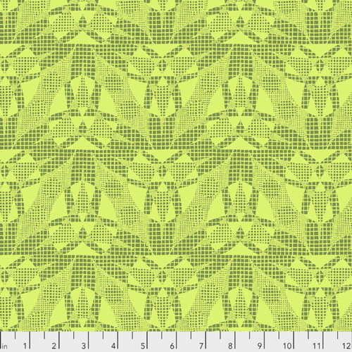 Amy Butler Natural Beauty CPAB018 Spider Web LIme Cotton Fabric By Yard