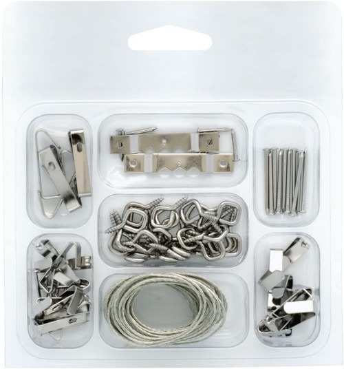 Project Basics 129700 46 Piece Light & Medium Duty Picture Hanger Kit