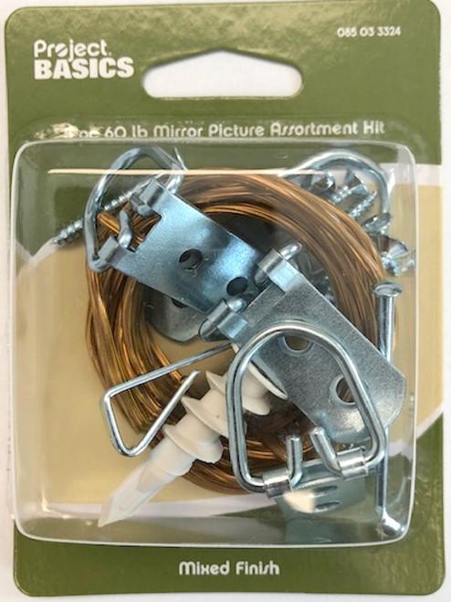 Project Basics 085-03-3324 60lb Mirror / Picture Hanger Assortment Kit