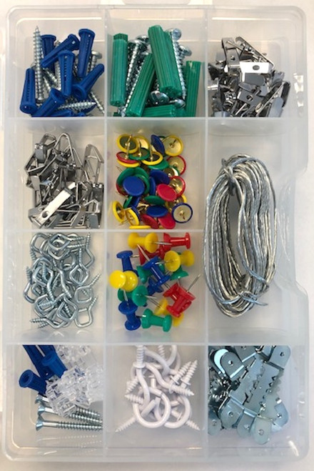 Project Basics 085-03-3331 250 Pc Light Duty Picture & Mirror Hanging Assortment