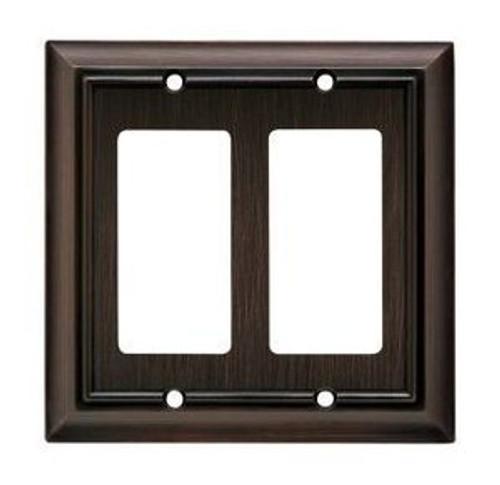 126379 Architect Espresso Double GFCI  Switch Cover Plate
