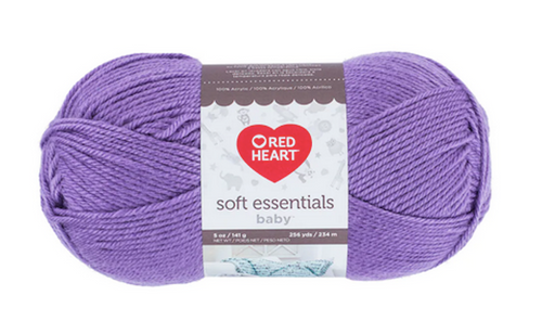 Red Heart Soft Essentials Baby Eggplant Knitting & Crochet Yarn