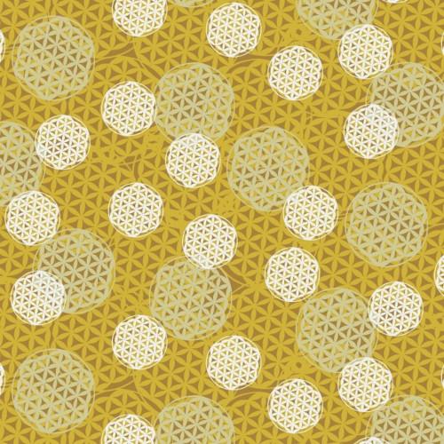 Free Spirit Valori Wells Kismet PWVW014 Flower Of Life Chai Tea Cotton Fabric By The Yard