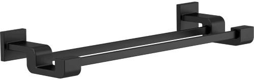Delta Faucet 77525-BL Ara Double Towel Bar Rack, 24 inch, Matte Black