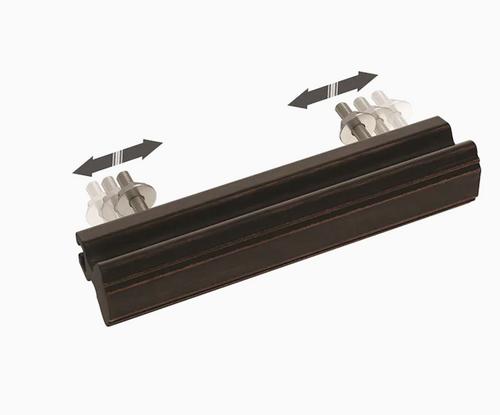 "Brainerd  P42955W-BZM 1"" - 4"" Classic Contour Adjustable Cabinet Pull Matte Bronze"