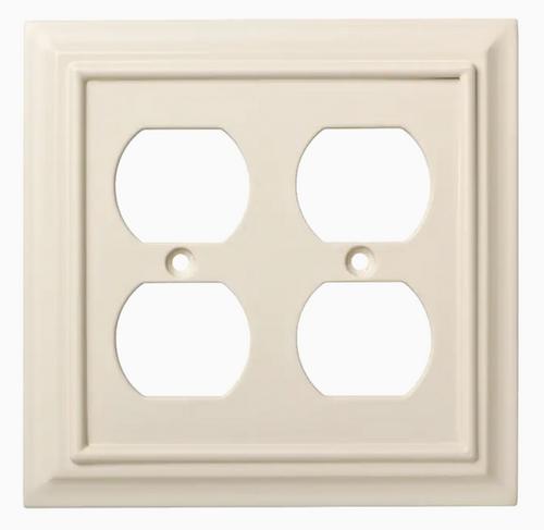 Brainerd W10767-LAL Lt Almond Architect Double Duplex Wall Plate Cover