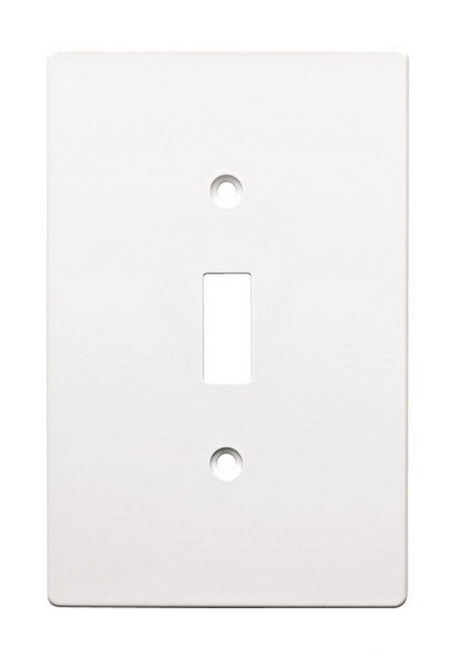 Hampton Bay W32731-PW Subway Tile Single Switch Cover Plate Pure White