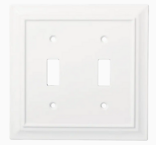 Brainerd W31561-PW Pure White Architect Double Switch Wall Plate Cover