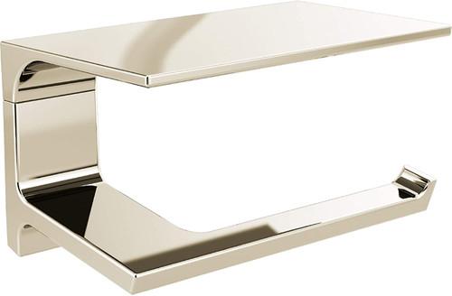 Delta 7995-PN Pivotal Bath Toilet Paper Holder w/ Shelf Polished Nickel Finish