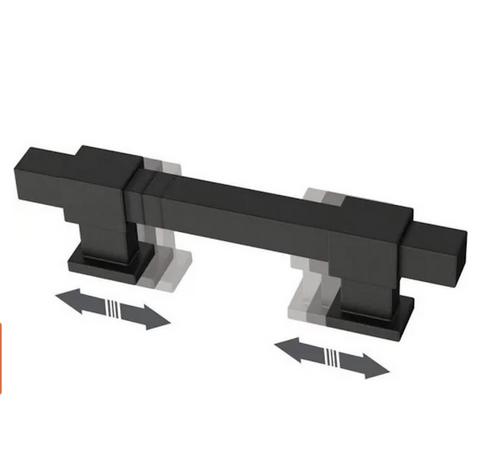 "Liberty P44367-FB 1 3/8"" - 4""  Adjustable Cabinet Pull Flat Black 5 Pack"