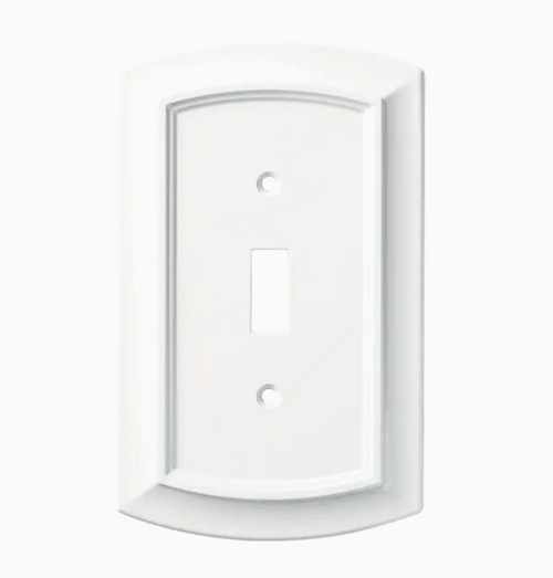 Brainerd W36432-PW Pure White Arched Single Switch Cover Wall Plate