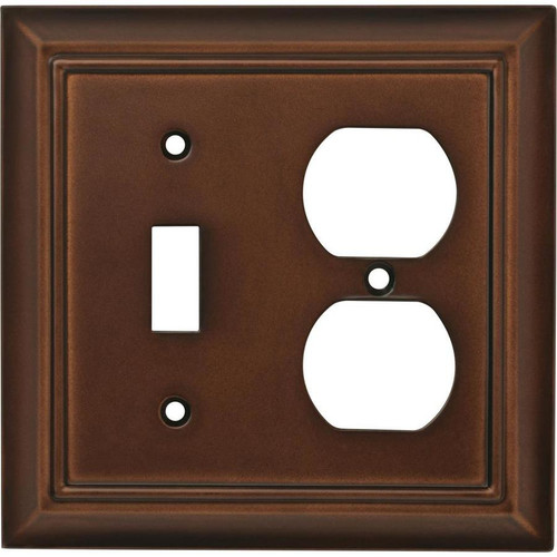 Brainerd W31562-ESO Espresso Architect Switch / Duplex Wall Plate Cover