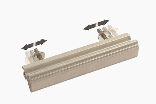 "Brainerd  P42955W-SN 1"" - 4"" Classic Contour Adjustable Cabinet Pull Satin Nickel"