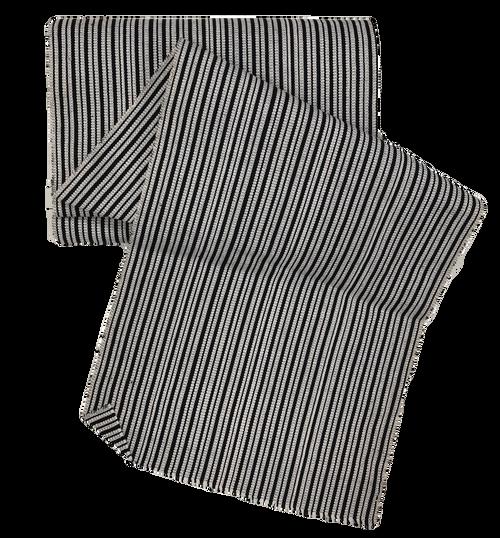 "African Faso Dan Fani Handmade Woven White Stripe Cotton Fabric 12"" x 8 Yard"