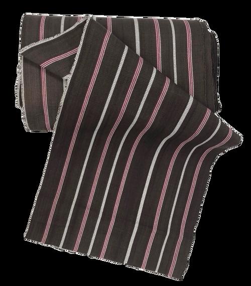 "African Faso Dan Fani Handmade Woven Brown Stripe Cotton Fabric 12"" x 7 Yard"