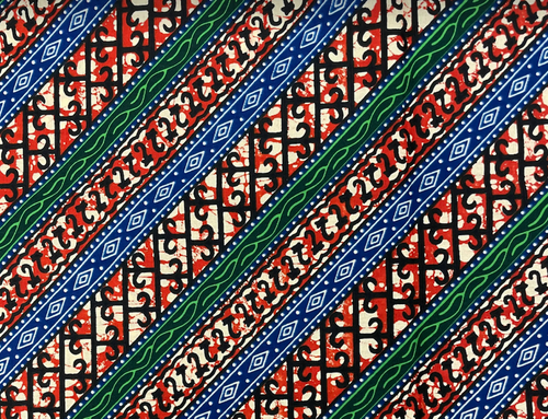 African Traditional Wax Print 27052 Multi Color Cotton Fabric By The Yard