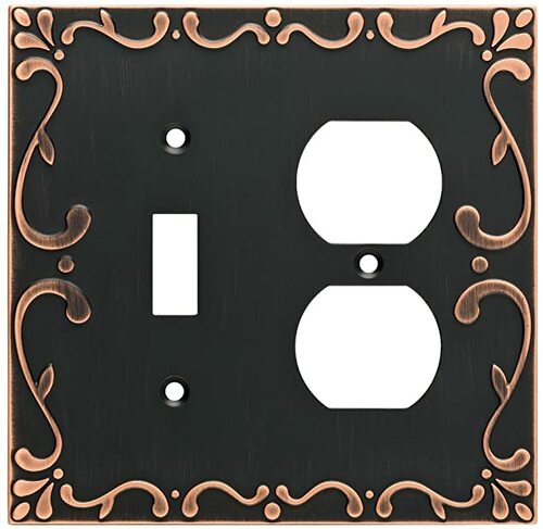 Franklin Brass W35074-VBC Bronze & Copper Classic Lace Switch / Duplex Cover Wall Plate