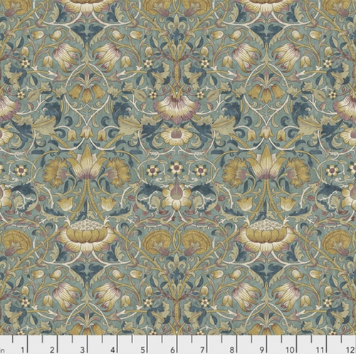Morris & Co. Standen PWWM023Lodden Dusk Cotton Fabric By Yd