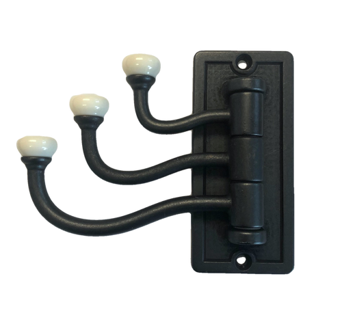 Threshold 085-03-4043 Soft Iron & Bisque Ceramic Triple Swivel Hook