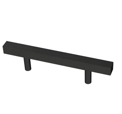 "Liberty P43836C-FB 3"" Flat Black Square Bar Cabinet Pull"