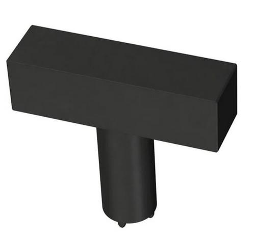 "Liberty P43113C-FB 1 1/2"" Flat Black Square Bar Cabinet Knob"