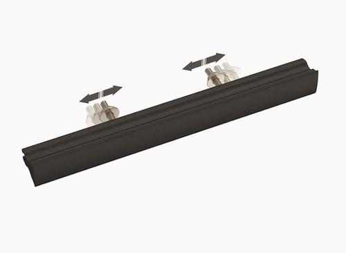 "Liberty P42959W-FB 2"" - 8 13/16"" Adjustable Casual Column Cabinet Pull Flat Black"