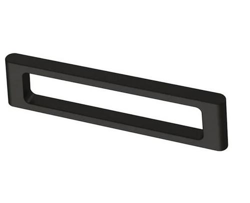 "Brainerd P40081C-FB Flat Black Squared Modern 3 3/4"" Cabinet & Drawer Pull"