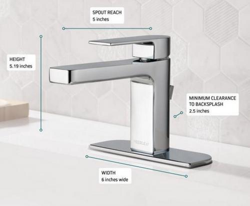 Peerless P1519LF Xander Single-Handle Bathroom Faucet Polished Chrome