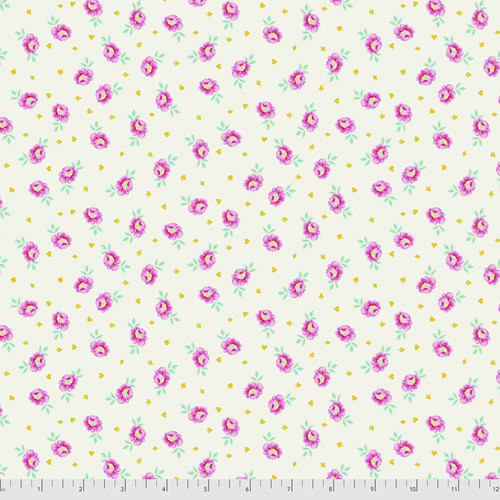 Tula Pink PWTP167 Curiouser & Curiouser Baby Buds Sugar Cotton Fabric By Yd